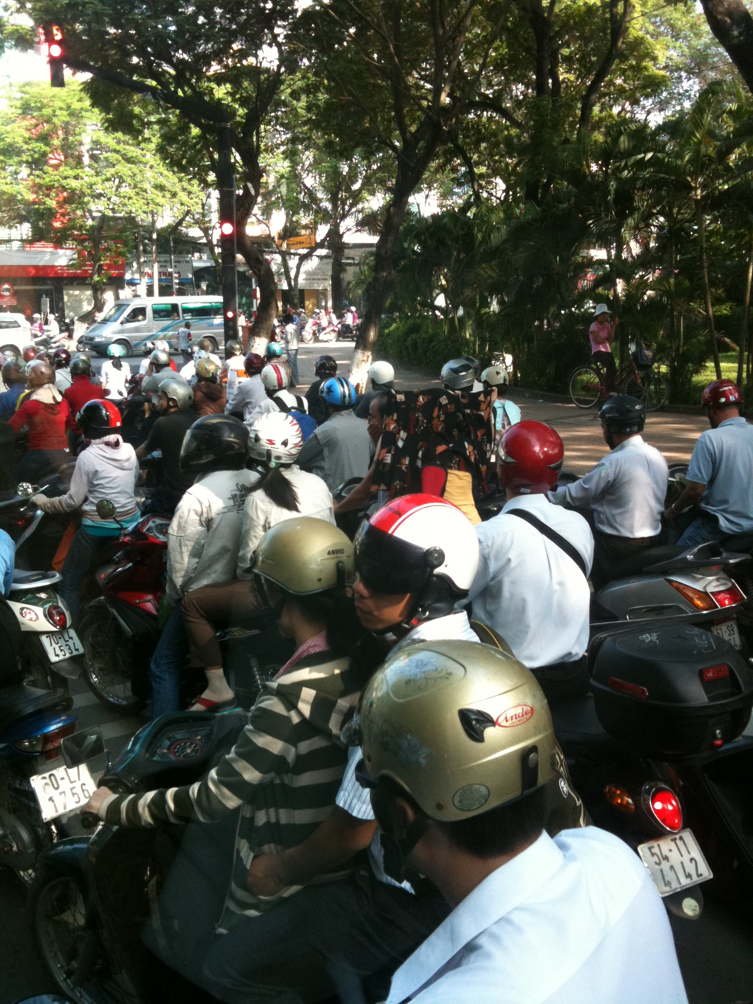 The traffic in Vietnam is seriously crazy! Take care crossing the road in Asia.