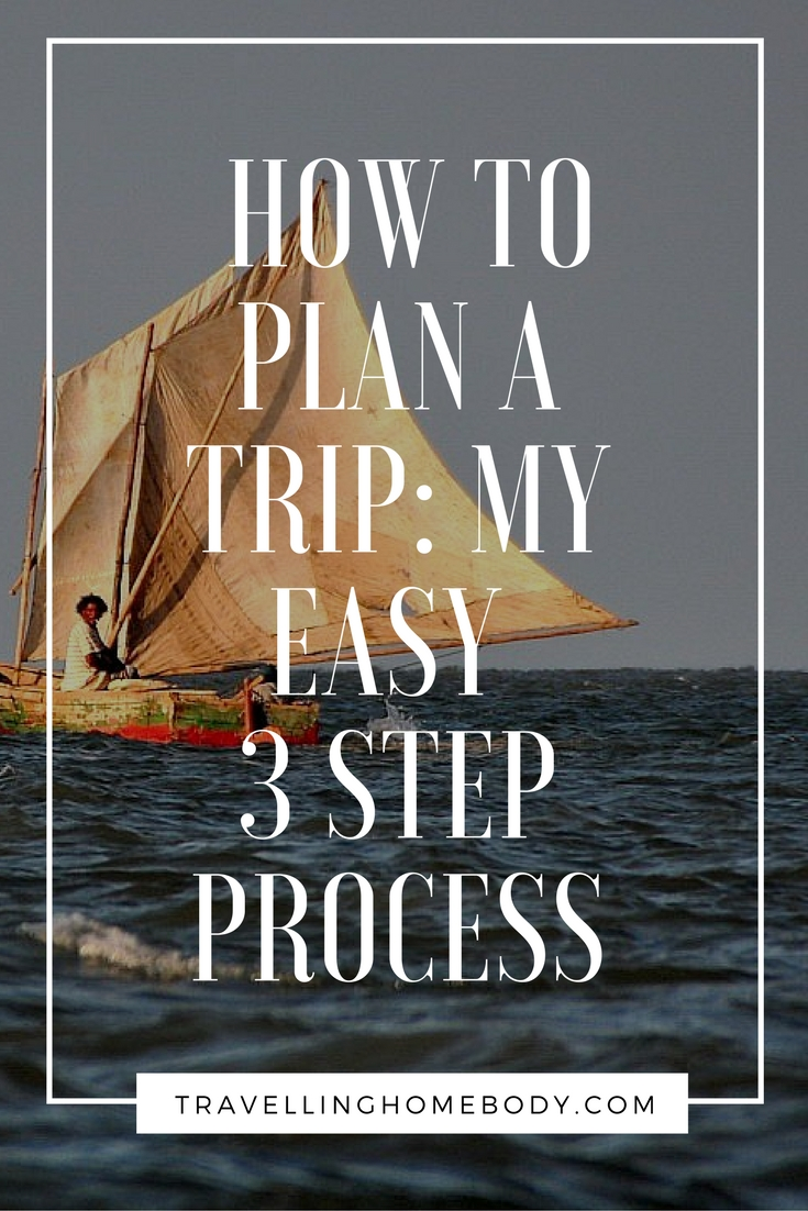 How to plan a trip: Travelling Homebody's easy, 3 step process.