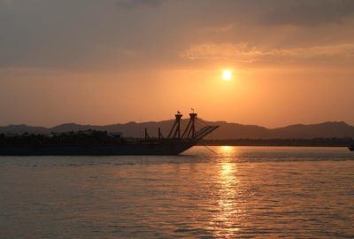 Sunset on the Irrawaddy River — Travellling Homebody — Bagan, Myanmar