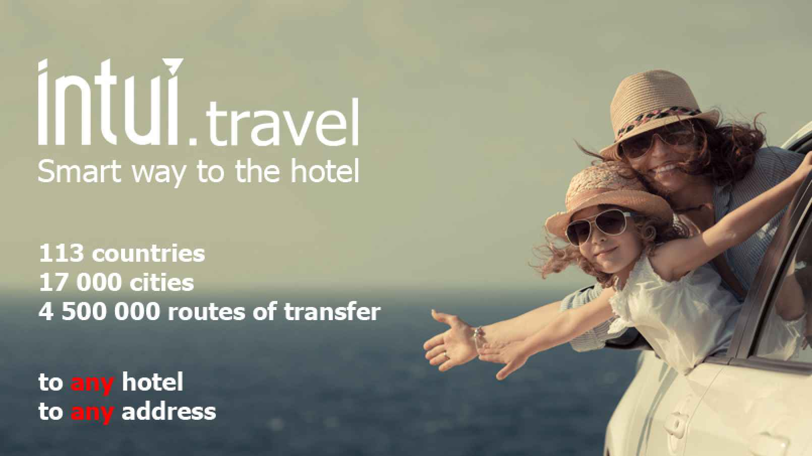 Get to your hotel stress free with an Intui.travel airport transfer