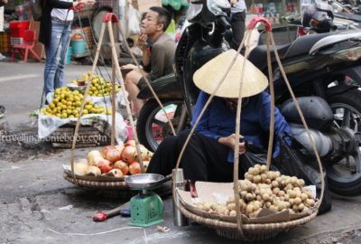 Ladies of the Flower Market Hanoi Vietnam - Travelling Homebody